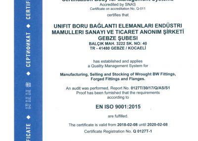 UNIFIT ISO9001:2015 EN